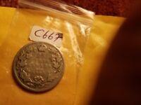1903 Canada 25 Cents Rare Silver Coin ID#C667.