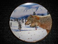 "Collectors Plates Wolves Wolf ""Soul Mates"" Danbury Mint ""Eternal Unity'"
