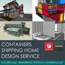 WE DESIGN YOUR SHIPPING CONTAINER HOME / HOUSE / OFFICE / LODGE - FLOOR PLANS+3D