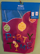 New listing Pier One Imports Decorative flag Party Time with Chinese lanterns & Party drink