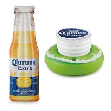 "Corona Beer Bottle 68.5"" x 22"" Inflatable Pool Float Mat + Lime Floating Cooler"
