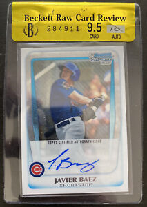 2011 Bowman Chrome Draft Prospect Autograph JAVIER BAEZ Beckett 9.5 GEM MINT! RC