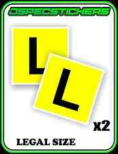 LEARNERS PLATE STICKER ADHESIVE L PLATE LICENCE LEGAL SIZE DECAL x2 SET