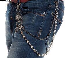 Antique Men's Double Link Wallet Chains Trucker Punk Rock Jean Key Chains