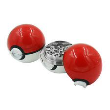 55mm 3 Layer Zinc Alloy Pokeball Pokemon Tobacco Mil Spice Herb Grinder Gift MG