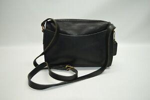 Coach Vintage Black Leather Small Shoulder Bag