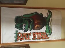 rat fink door hanging fuglies garage art garage man cave flag pool room bar USA