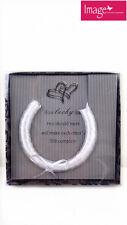 White Wedding Horseshoe Pearly LOOK Bridal Lucky Charm Gki-bbh33