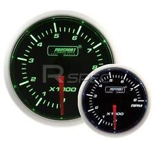 Prosport 52mm Super Ahumado Verde / Blanco Rpm Revoluciones Gasolina 0-10000rpm