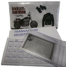 Harley Motorcycle Checkbook or  Debit Cover with register + photo holder