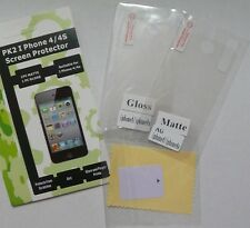 2x Screen Guard Protector for iPhone 4 4G 4GS 4S NEW gloss+matte protecter cover