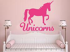 Wall Room Decor Vinyl Sticker Mural Decal Nursery Girl Pony Unicorn Magic F2262