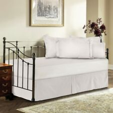 4 Piece Split Corner Day Bed Skirt with Pillow Sham Stripe 600tc Egyptian Cotton