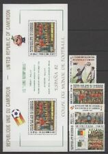 Fútbol-WM 1982, soccer-camerún - 979-982, bl.20 ** mnh