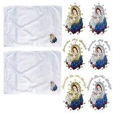 Baby Infant Toddler Christening Baptism White SWADDLING BLANKET Virgin Mary Pope