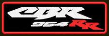 "HONDA CBR 954 RR EMBROIDERED PATCH ~5-1/4""x 1-1/2"" BIKER BORDADO PARCHE AUFNÄHER"