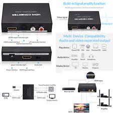 1080P HDMI to HDMI Optical + SPDIF + RCA L/R Audio Extractor Splitter Converter