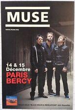 Flyer - PLV - MUSE -  Concert du 14 et 15/12/2006 à Paris Bercy