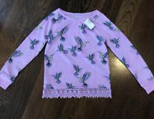 NWT Justice Purple Hummingbird Lightweight Sweatshirt 10