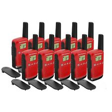 10 x Motorola TALKABOUT T42 Ten Pack Two-Way Radios in Red PMR 446 Compact