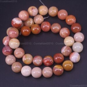 """Natural Petrified Wood Agate Gemstone Round Beads 4mm 6mm 8mm 10mm 12mm 15.5"""""""