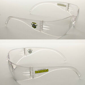6 Pairs of New NRL Raiders Safety Glasses Clear Lens Merchandise AS/NZS1337.1