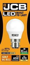 JCB 6w LED BC / B22 mat balle de golf ampoule 470lm 3000k blanc chaud (s10969)