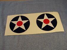 "WW2 Army Air Force AAF AIRCRAFT INSIGNIA  x2  5"" INCH DECAL Pre-Pearl Harbor"