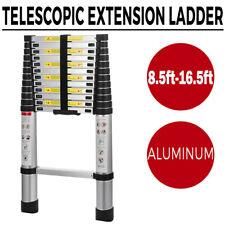Multi Purpose Aluminum Telescopic Ladder Heavy Duty Folding Extension Stepper