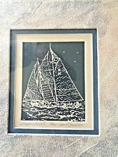 "Etching - ""Sugar Ship 1"" - by Ann P. Ingerson - Embossed Mat"
