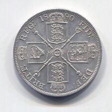 Great Britain - Fantastic Scarce Qv Silver Double Florin, 1890