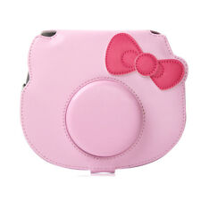 For Fujifilm Instax Mini HELLO KITTY Camera PU Bag Carrying Case Cover Cute Pink