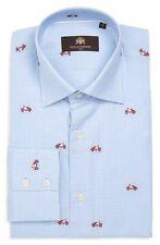 Circle of Gentlemen 'Run Scooters' Slim Fit Blue Gingham Spread Collar Shirt 15