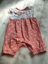 girls 12-18 months minnie mouse dungaree shorts jumpsuit playsuit romper next da
