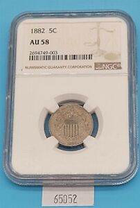 West Point Coins ~ 1882 Shield Nickel NGC AU-58