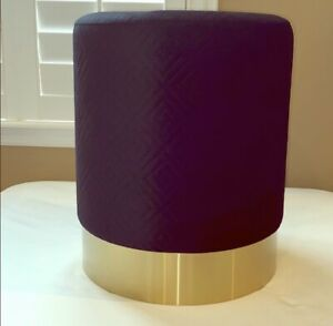 Black And Gold Quilted Glamour Stool