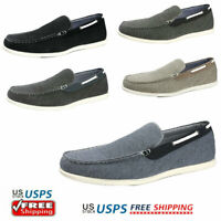 Men's Slip on Loafers Driving Shoes Canvas Boat Shoes