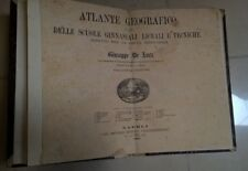 ATLANTE GEOGRAFICO GIUSEPPE DE LUCA UNIVERSITA' DI NAPOLI 1884 STEEGER