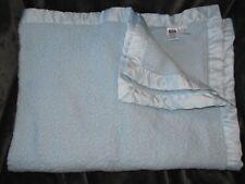 Hudson Baby Hb Boy Blue Blanket Sherpa Plush Satin Trim Edge Style 50920