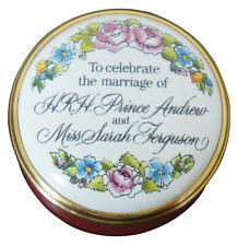 Halcyon Days Enamels Prince Andrew Sarah Ferguson Marriage Limoges Trinket Box