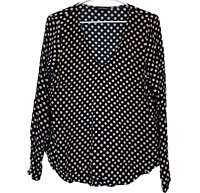 Portmans Womens Black/Beige Pola Dot Long Sleeve Blouse