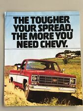 Vintage Chevrolet V-8 Diesel Pickup Truck Advertising Brochure 1970s