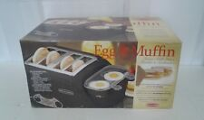 New Back to Basics Egg & Muffin Toaster All-In-One Breakfast Center Tem4500 Nib