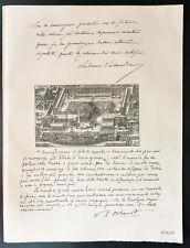 1926 - Lithographie citation Mrs Antonio Salandra, V. L. Orlando.