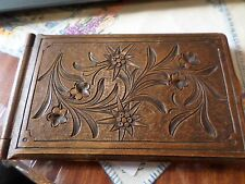 Antique Treen boxed mirror compact