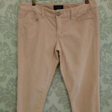 American Eagle Super Stretch Jegging Womens 10 R Pale Pink Corduroy Pants Jeans