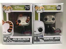 Disney Nightmare Before Christmas Vampire Jack & Jack Skellington Special Pop