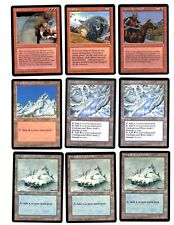 """Magic the Gathering Ice Age Edition Set (A) of 9 Cards """"Make Offer Sale"""""""