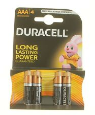 DURACELL AAA LR03 BATTERIES LONG LASTING POWER X 4