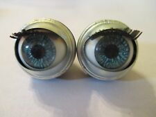 Vintage 18/22 mm Acrylic Blue Sleepy Eye W Eye Lashes Open Close   VSE